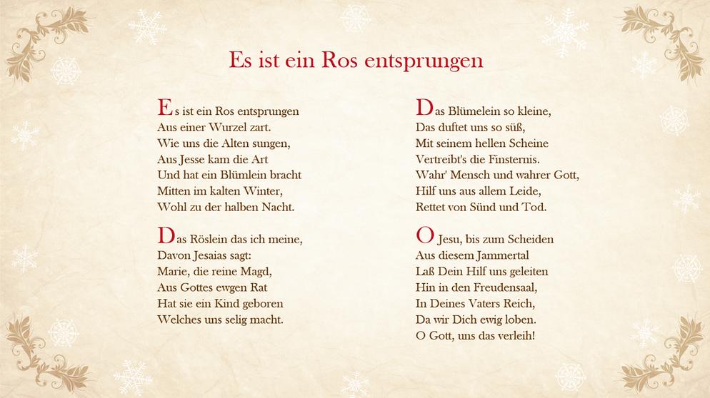 Weihnachtslieder : Textsicher unterm Tannenbaum | Bayern 1 | Radio ...