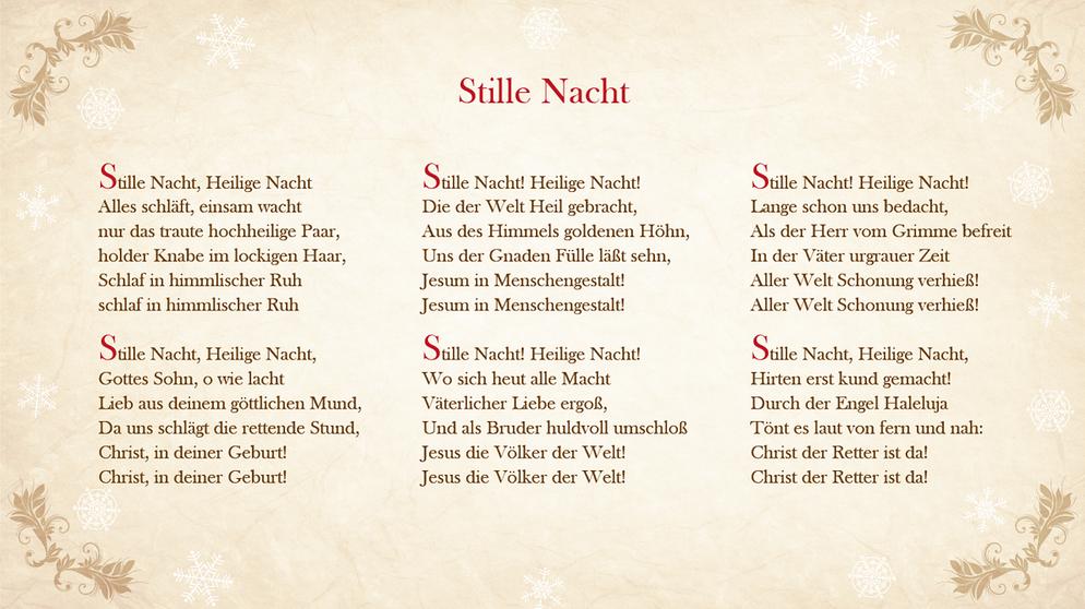 Texte Weihnachtslieder Zum Ausdrucken.Weihnachtslieder Texte So Sind Sie Textsicher Unterm Tannenbaum