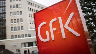 GfK-Logo in Nürnberg. | Bild: picture-alliance/dpa