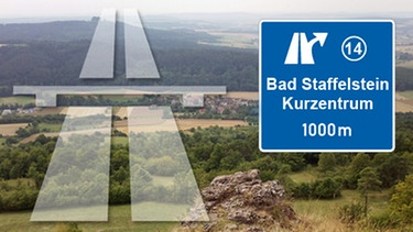 Illustration; Ausfahrt Bad Staffelstein - Kurzentrum | Bild: BR