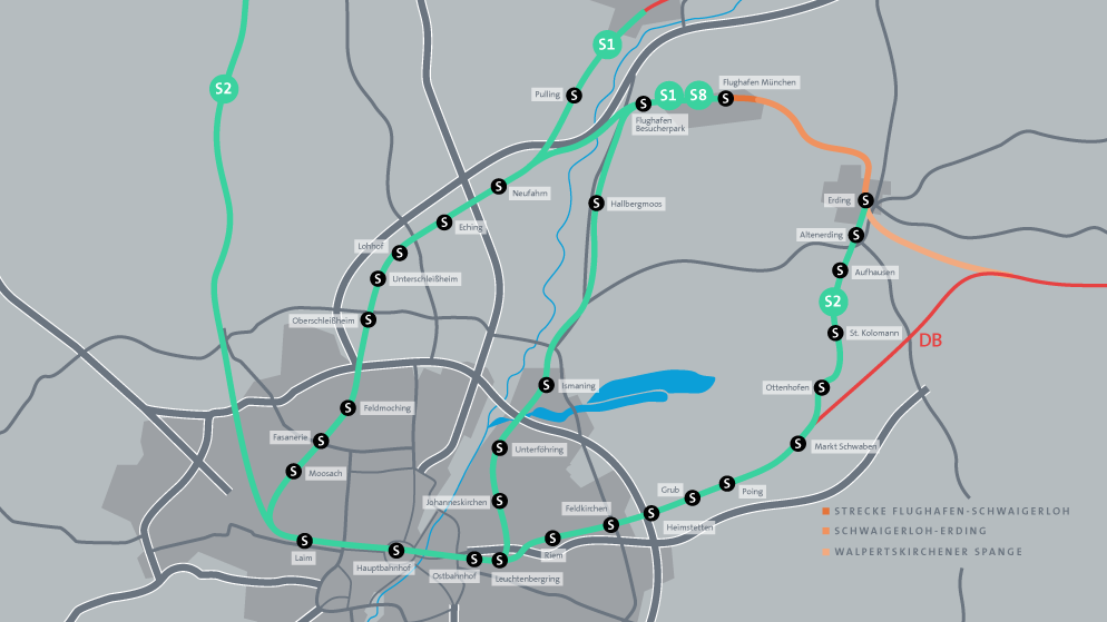 S Bahn Karte München.Erdinger Ringschluss S Bahn Anschluss Flughafen München Br De
