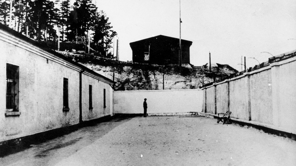 Konzentrationslager Flossenbürg: Arrestbau | Bild: National Archives, Washington DC (NARA)