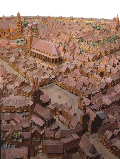 17 Jahrhundert Bild Architektur: Stadt-Modell, Modell-Stadt: München Im 16. Und 17