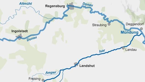 Isar Fluss Karte.Die Isar Kleiner Fluss Große Geschichten Themen Br De