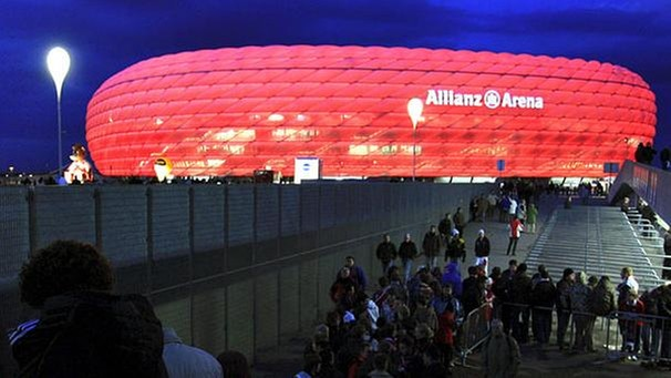 Allianz Arena in München Fröttmaning | Bild: picture-alliance/dpa