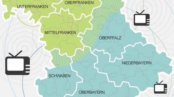 Karte Oberbayern Regionen.Antennenfernsehen Kanale In Den Regionen Technik