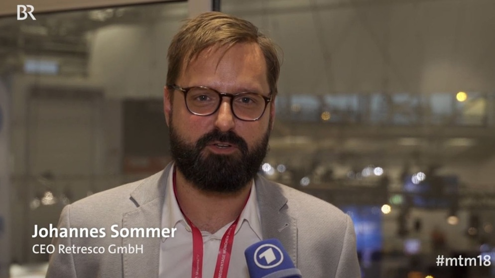 Johannes Sommer, CEO Retresco GmbH | Bild: Screenshot BR