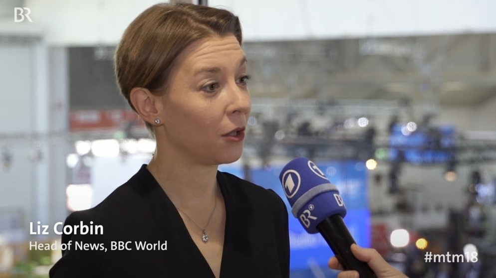 Liz Corbin, Head of News, BBC World News | Bild: Screenshot BR