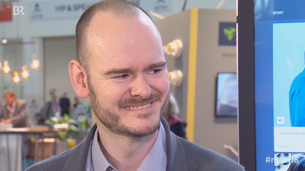 Dr. Nico Becherer, Computer-Scientist Adobe | Bild: Screenshot BR