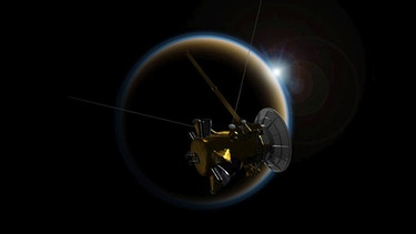 21. April: Cassini fliegt am Saturnmond Titan vorbei | Bild: NASA/JPL-Caltech