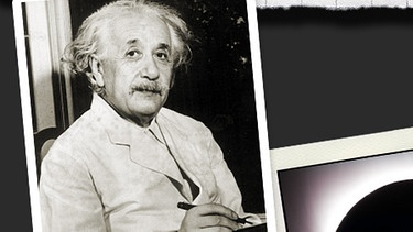 Albert Einstein | Bild: picture-alliance/dpa; Zeugnis:Kanton Aaargau; Sonnenfinsternis:Williams College Eclipse Expedition; Montage:BR