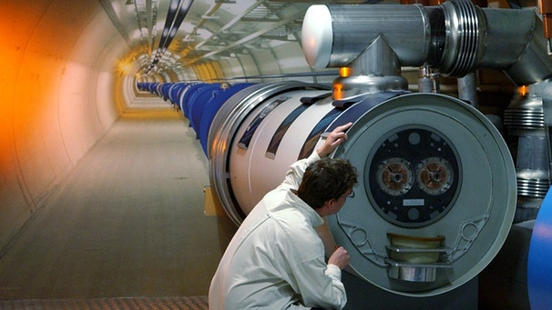 Modell des LHC-Tunnels | Bild: picture-alliance/dpa